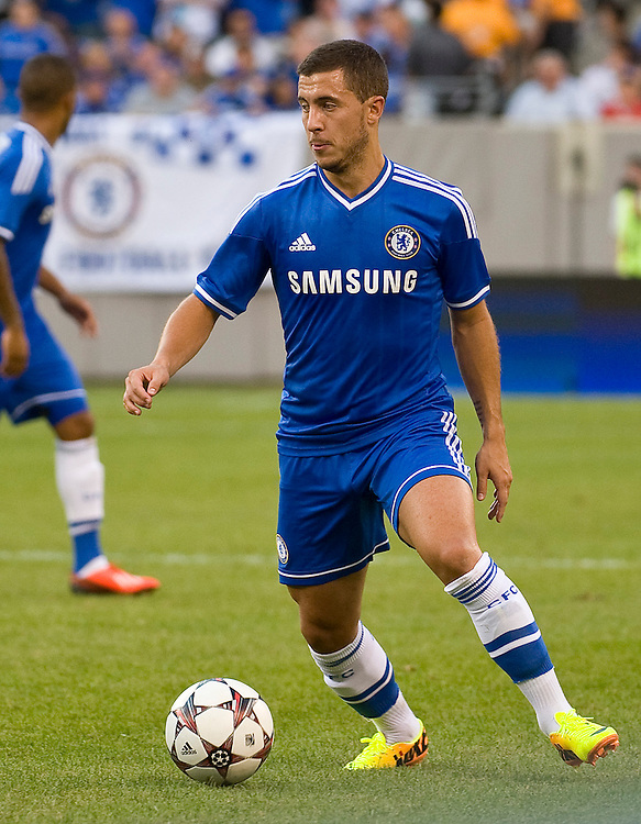 Eden Hazard (Chelsea) on the ball.  - Chelsea vs. AC Milan - Guinness International Champions Cup at MetLife Stadium, East Rutherford - 04/08/2013 - Mandatory Credit: Pixel8 Photos/Jack Megaw - +44(0)7734 151429 - info@pixel8photos.com - NO UNPAID USE.