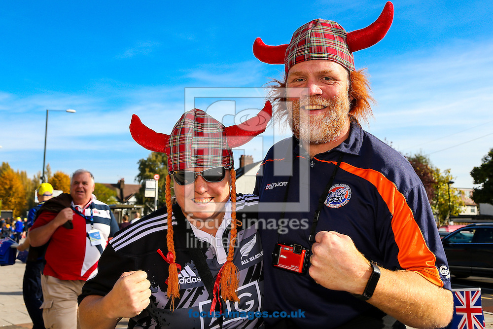 New Zealand fans before the final of the 2015 Rugby World Cup at Twickenham Stadium, Twickenham<br /> Picture by Andy Kearns/Focus Images Ltd 0781 864 4264<br /> 31/10/2015