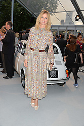 EVA HERZIGOVA at the launch of the new remastered Fiat 500 featuring an exclusive performance by Ella Eyre held in Potters Field Park, Southwark, London SE1 on 2nd September 2015.