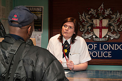 Front desk of Bishopsgate Police Station
