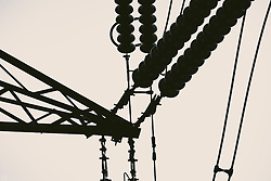 Electricity pylons on the Black Law Wind Farm, South Lanarkshire, Scotland<br /> <br /> (c) Andrew Wilson | Edinburgh Elite media