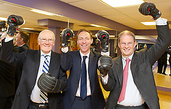 Fighting Fitter Campaign.<br /> (R-L) James Arbuthnot, Chair of the Defence Select Committee, Jim Murphy MP, Labour's Shadow Defence Secretary, and former Olympian Sir Menzies Campbell<br /> at The House of Commons Gym, London, Great Britain, 25th June 2013.<br /> Jim Murphy MP, Labour's Shadow Defence Secretary, James Arbuthnot, Chair of the Defence Select Committee, and former Olympian Sir Menzies Campbell, during a photo-call to promote the 'Fighting Fitter' campaign, which provides members of the Armed Forces and their families with discounts to health and leisure facilities.<br /> London, United Kingdom<br /> Tuesday, 25th June 2013<br /> Picture by Elliot Franks / i-Images
