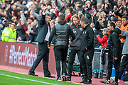 Craig Levein, manager of Heart of Midlothian celebrates after the final whistle of the Ladbrokes Scottish Premiership match between Heart of Midlothian and Aberdeen at Tynecastle Stadium, Edinburgh, Scotland on 20 October 2018.