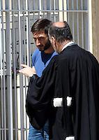 Dragan Gajic - 17.06.2015 - Proces des paris sportifs du Handball - Montpellier<br /> Photo : Alexandre Dimou / Icon Sport
