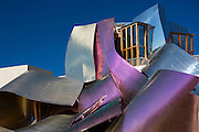 Hotel Marques de Riscal, futuristic design by architect Frank Gehry, at Elciego in Rioja-Alavesa area of Spain