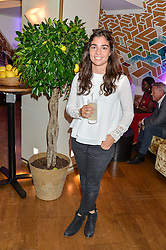 Racing driver JAMIE CHADWICK at a party hosted by Nancy Dell'Olio to celebrate the launch of Limonbello held at The Club at The Ivy, 9 West Street, London on 20th July 2016.