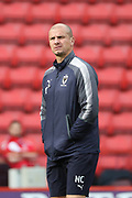 AFC Wimbledon assistant coach Neil Cox  during the warm up during the EFL Sky Bet League 1 match between Charlton Athletic and AFC Wimbledon at The Valley, London, England on 28 October 2017. Photo by Matthew Redman.