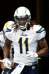 September 26, 2010; Seattle, WA, USA;  San Diego Chargers wide receiver Legedu Naanee (11) enters the field before the game against the Seattle Seahawks at Qwest Field. Seattle defeated San Diego 27-20.