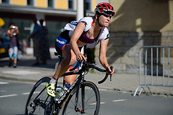 Joëlle Numainville (Cervélo Bigla) enters the final loop around town at Thüringen Rundfarht 2016 - Stage 6 a 130 km road race starting and finishing in Schleiz, Germany on 20th July 2016.
