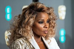 Mary J. Blige attending 72nd British Academy Film Awards, Arrivals, Royal Albert Hall, London. 10th February 2019