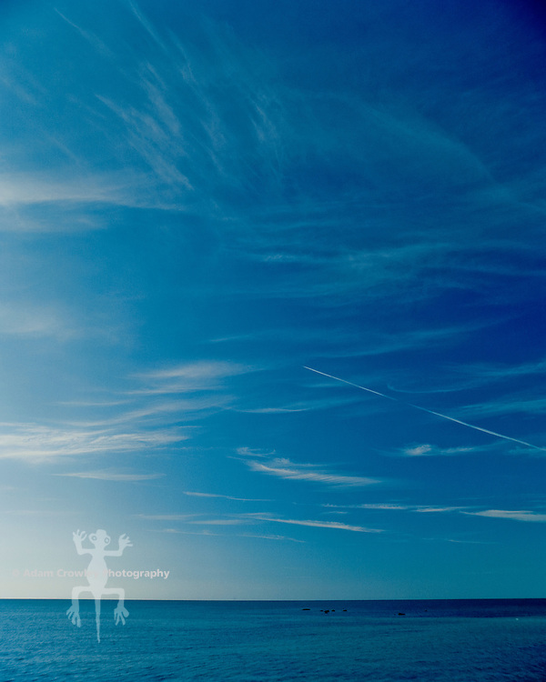 Atlantic Ocean and blue sky