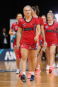 Tactix captain Hayley Saunders leads out her team ahead of the ANZ Premiership netball match - Magic v 170529 ANZ Premiership - Magic v Tactix played at Claudelands Arena, Hamilton, New Zealand on Monday 29 May 2017. Copyright photo: Bruce Lim / www.photosport.nz