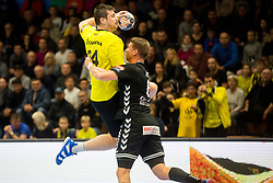 Robert Markotic of RK Gorenje Velenje during handball match between RK Gorenje Velenje and Kadetten Schaffhausen in VELUX EHF Champions League, on November 25, 2017 in Rdeca Dvorana, Velenje, Slovenia. Photo by Ziga Zupan / Sportida