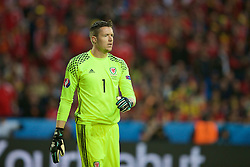 LILLE, FRANCE - Friday, July 1, 2016: Wales goalkeeper Wayne Hennessey in action against Belgium during the UEFA Euro 2016 Championship Quarter-Final match at the Stade Pierre Mauroy. (Pic by Paul Greenwood/Propaganda)