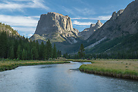 Squaretop and Green River, Bridger Wilderness, Wind River Range Wyoming