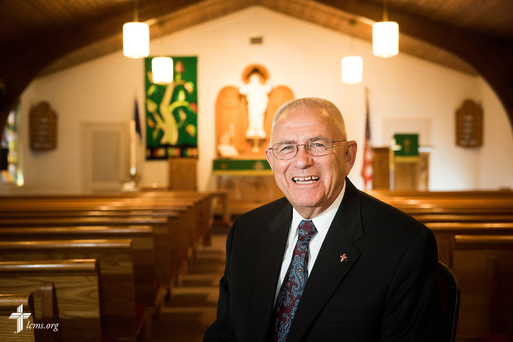 Portrait of the Rev. Dr. Robert Kuhn on Saturday, Sept. 12, 2015, at Lutheran Church of the Redeemer in Sanford, Fla. Kuhn was a former parish pastor, president of the LCMS Central Illinois District, first vice-president of the LCMS and chairman of the LCMS Board of Directors, and five months as Synod president following the 2001 death of then-President Rev. Dr. A.L. Barry. LCMS Communications/Erik M. Lunsford