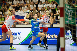 Tjasa Stanko of Slovenia during handball match between Women national teams of Slovenia and Denmark in Round #5 of Qualifications for Women's EHF EURO 2018 Championship in France, on May 30, 2018 in Sports hall Golovec, Celje, Slovenia. Photo by Urban Urbanc / Sportida