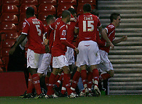 Photo: Richard Lane/Richard Lane Photography. Nottingham Forest v Birmingham City. Coca Cola Championship. 08/11/2008. James Perch celebrates the equaliser
