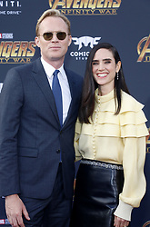 Paul Bettany and Jennifer Connelly at the premiere of Disney and Marvel's 'Avengers: Infinity War' held at the El Capitan Theatre in Hollywood, USA on April 23, 2018.