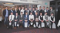 Kilmeena Gaa minor team pictured with coaches at the Club's celebration dance where they recieved their championship and league medals from Jason Doherty.<br />Pic Conor McKeown