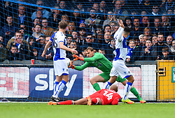 Sam Slocombe of Bristol Rovers makes a save - Mandatory by-line: Paul Knight/JMP - 28/04/2018 - FOOTBALL - Memorial Stadium - Bristol, England - Bristol Rovers v Gillingham - Sky Bet League One