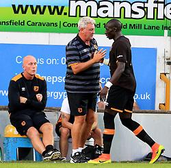 Hull City manager Steve Bruce shakes hands with Mohamed Diame - Mandatory by-line: Matt McNulty/JMP - 19/07/2016 - FOOTBALL - One Call Stadium - Mansfield, England - Mansfield Town v Hull City - Pre-season friendly