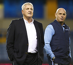 February 12, 2019 - London, England, United Kingdom - Sheffield Wednesday manager Steve Bruce and coach Steve Agnew.during Sky Bet Championship match between Millwall and Sheffield Wednesday at The Den Ground, London on 12 Feb 2019. (Credit Image: © Action Foto Sport/NurPhoto via ZUMA Press)
