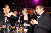 Gail Ronson, Trudie Styler and Gerald Ronson, Fundraising party with airline theme in aid of the Old Vic and to celebrate the appointment of Kevin Spacey as artistic director.  <br />