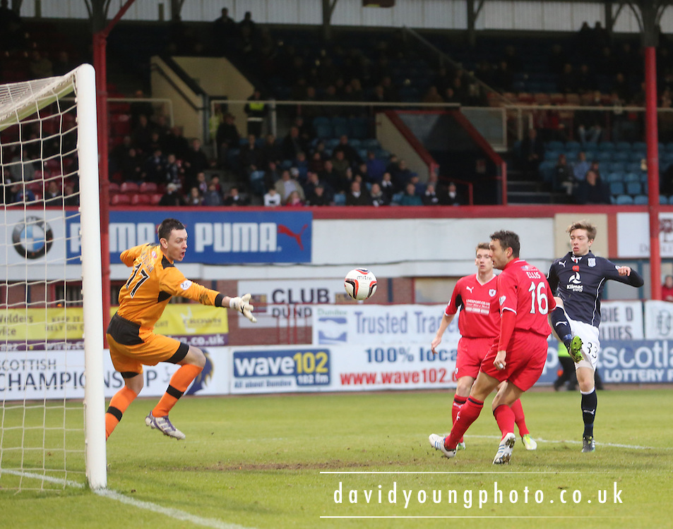 16 year old Craig Wighton scores his first senior goal  - Dundee v Raith Rovers, SPFL Championship at Dens Park<br /> <br />  - &copy; David Young - www.davidyoungphoto.co.uk - email: davidyoungphoto@gmail.com