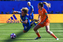 June 30, 2019 - Valenciennes, France - Desiree Van Lunteren (NED) and Valentina Giacinti (ITA) fighting for the ball during the quarter-final between in ITALY and NETHERLANDS the 2019 women's football World cup at Stade du Hainaut, on the 29 June 2019. (Credit Image: © Julien Mattia/NurPhoto via ZUMA Press)