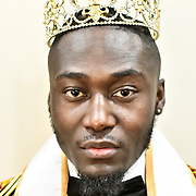 Jeffrey Samba Mr Congo UK 2018 attend the Mr & Miss Congo 2020,on 29th Febryary 2020 at Old Townhall,Stratford, London, UK