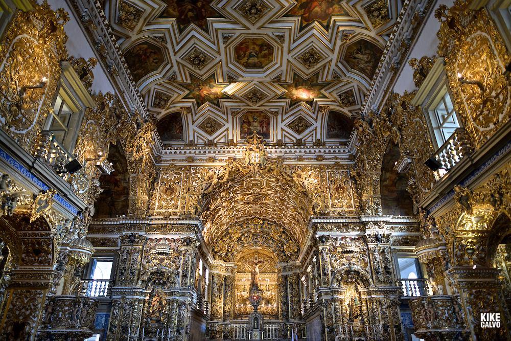 Inside Ingreja São Francisco Salvador da Bahia Brazil