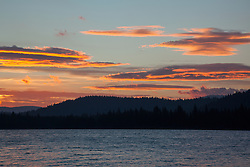 """Donner Lake Sunrise 9"" - Photograph of an orange sunrise at Donner Lake in Truckee, California."