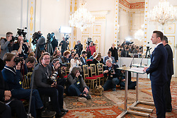 08.01.2020, Bundeskanzleramt, Wien, AUT, 24.04.2019, Bundeskanzleramt, Wien, AUT, Bundesregierung, Pressefoyer nach Sitzung des Ministerrats, im Bild Gernot Bluemel (OeVP)// during media briefing after cabinet meeting at the federal chancellery in Vienna, Austria on 2020/01/08. EXPA Pictures © 2020, PhotoCredit: EXPA/ Florian Schroetter
