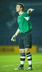 LEICESTER, ENGLAND - Tuesday, January 12, 2010: Leicester City's goalkeeper Robert Ambrusics in action against Liverpool during the FA Youth Cup 4th Round match at the Walkers Stadium. (Photo by David Rawcliffe/Propaganda)