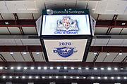 DESCRIZIONE : Campionato 2015/16 Serie A Beko Dinamo Banco di Sardegna Sassari - Umana Reyer Venezia<br /> GIOCATORE : Cubo Megaschermo PalaSerradimigni<br /> CATEGORIA : Palazzo Palazzetto Arena<br /> SQUADRA : Dinamo Banco di Sardegna Sassari<br /> EVENTO : LegaBasket Serie A Beko 2015/2016<br /> GARA : Dinamo Banco di Sardegna Sassari - Umana Reyer Venezia<br /> DATA : 01/11/2015<br /> SPORT : Pallacanestro <br /> AUTORE : Agenzia Ciamillo-Castoria/L.Canu