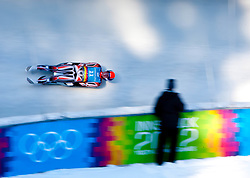 "15.01.2012, Bobbahn Igls, Innsbruck, AUT, Olympische Jugend Winterspiele, Rodeln, Herren, im Bild MitchelMalyk (CAN) // MitchelMalyk (CAN) during the Mens Luge of the Winter Youth Olympic Games at the ""Bob Track Igls"", Innsbruck, Austria on 2012/01/15, EXPA Pictures © 2012, PhotoCredit: EXPA/ Juergen Feichter"