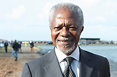 Kofi Annan bij Making Waves, op de Afsluitdijk