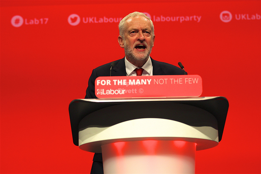 Labour Party Conference Leaders speech by Jeremy Corbyn.  Labour Party Conference Leaders speech by Jeremy Corbyn.
