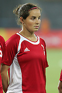 12 August 2008: Rhian Wilkinson (CAN).  The women's Olympic team of Sweden defeated the women's Olympic soccer team of Canada 2-1 at Beijing Workers' Stadium in Beijing, China in a Group E round-robin match in the Women's Olympic Football competition.