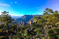 The Copper Canyon from the Uno Lodge (sitting on a ledge 6,400 feet above the canyon floor), Mexico