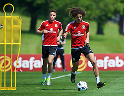 CARDIFF, WALES - Friday, June 3, 2016: Wales' Ethan Ampadu during a training session at the Vale Resort Hotel ahead of the International Friendly match against Sweden. (Pic by David Rawcliffe/Propaganda)