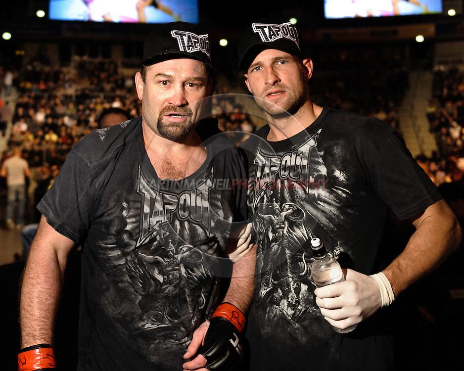 OBERHAUSEN, GERMANY, NOVEMBER 13, 2010: Vladimir Matyushenko and Alexandre Ferreira during UFC 122 inside the Konig Pilsner Arena in Oberhausen, Germany.