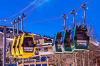 Sky Cab gondola, Snowmass (Aspen) ski resort, Colorado USA.