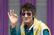 Rus0070697<br /> Date: 04/06/16<br /> PH:  Nick Edwards<br /> <br /> Pictured: Ronnie Wood outside his home in West London <br /> <br /> Caption: Sally Humphreys, wife of Ronnie Wood from The Rolling Stones gave birth to twin girls this week. Ronnie Wood wood was  seen retuning home after being at the hospital visiting his wife