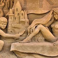 Beach Sand Sculpture in Warnem&uuml;nde, Germany<br />