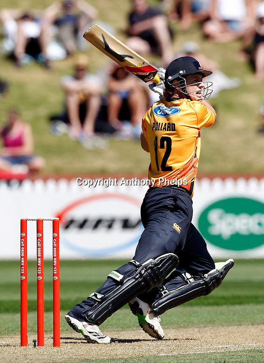 Michael Pollard during the Twenty20 Cricket - HRV Cup, Firebirds v Volts at the Basin Reserve, Wellington, 04 December 2010. Photo: Anthony Phelps/PHOTOSPORT