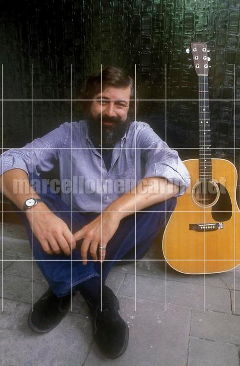 Rome, about 1985. Italian singer-songwriter Francesco Guccini / Roma, 1985 circa. Il cantautore Francesco Guccini - © Marcello Mencarini