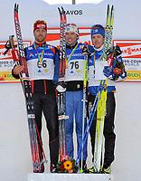 Axel Teichmann (GER, Johan Olsson (SWE) und Sami Jauhojaervi (FIN). © Werner Schaerer/EQ Images