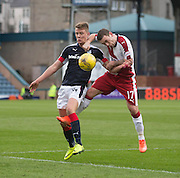 Dundee's Mark O'Hara and Rangers' Lee Hodson - Dundee v Rangers in the Ladbrokes Scottish Premiership at Dens Park, Dundee.Photo: David Young<br /> <br />  - © David Young - www.davidyoungphoto.co.uk - email: davidyoungphoto@gmail.com